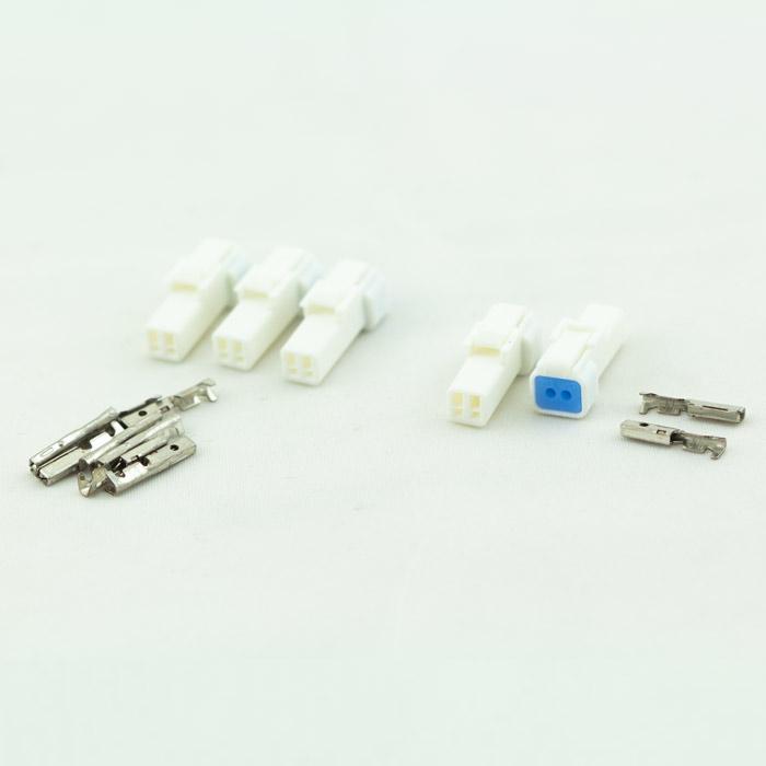 JST-Steckerset | 15-teilig | 02R-JWPF-VSLE-S | 5 x 2er Stecker männlich | inkl. 10 Pin s