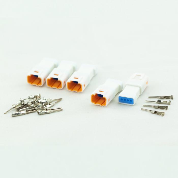JST-Steckerset | 25-teilig | 04T-JWPF-VSLE-S | 5 x 4er Stecker weiblich | inkl. 20 Pin s