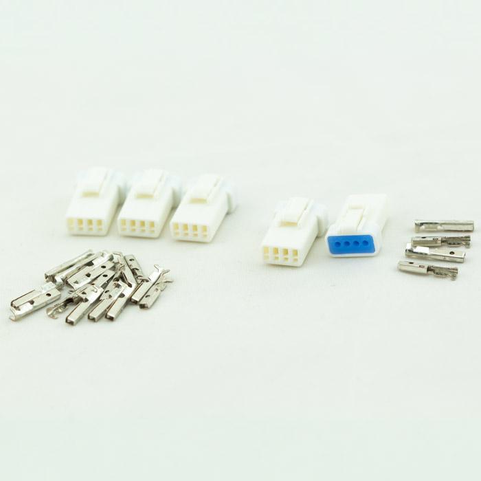 JST-Steckerset | 25-teilig | 04R-JWPF-VSLE-S | 5 x 4er Stecker männlich | inkl. 20 Pin s