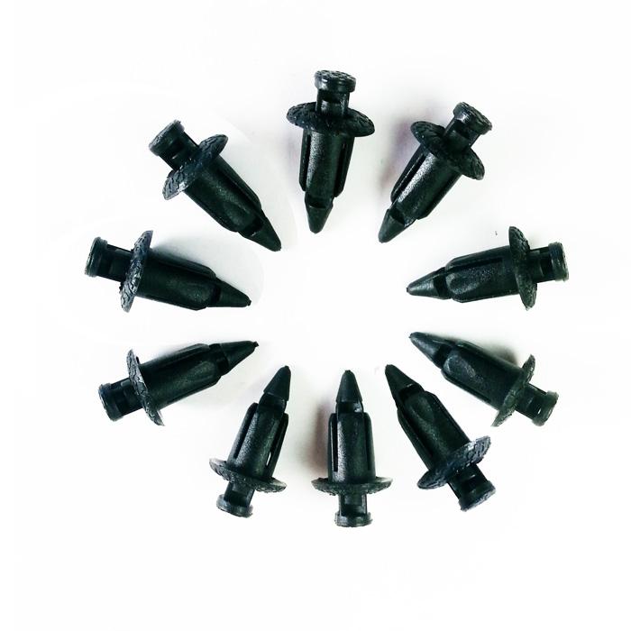 Spreizschrauben PVC, 6 mm, schwarz, 1 Set=10 Stück Maße: L: 20,5 mm x  B: 12 mm, Ø 3,5 - 5 mm