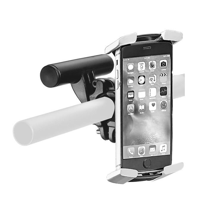 Universal Handyhalterung, schwarz/grau, Nylon/TPE, passend für Größen: H 129-163 x B 67-82 x T 7-9 mm