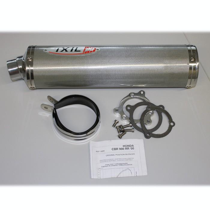 IXIL Racingendtopf CBR 900 RR, 00-01, Carbon, Alu beschichtet, oval