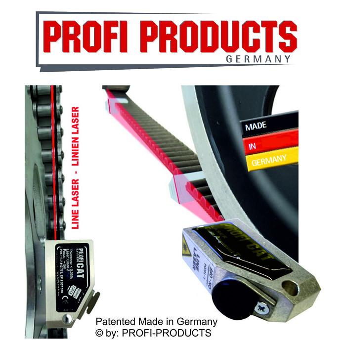 Profi SE-CAT-Line Kettenflucht-Tester/Linienlaser, arbeiten wie die Profis / Linienlaser Kettenflucht