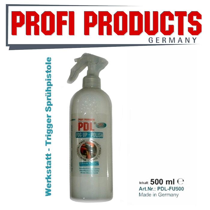 PDL® Fog Up Polish, 500ml, Schnellreiniger + Politur mit Show Glanz Effekt