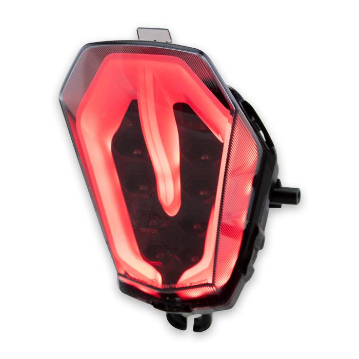 LED-Rücklicht Suzuki GSX-R1000/R, 17-18, getönt, Reflektor schwarz, E-geprüft