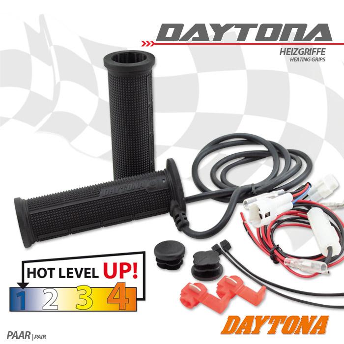 "Heizgriffe ""Daytona V"", offen, 7/8""-22 mm, Länge: L 120 mm + R 120 mm, 4 fach verstellbar"