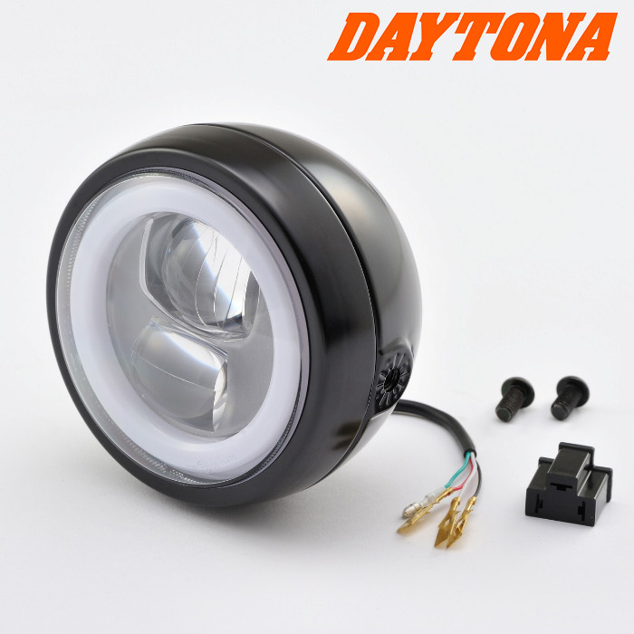 LED-Scheinwerfer | Capsule 120 | Schwarz | Alu | M8 seitliche Befestigung | E-geprüft
