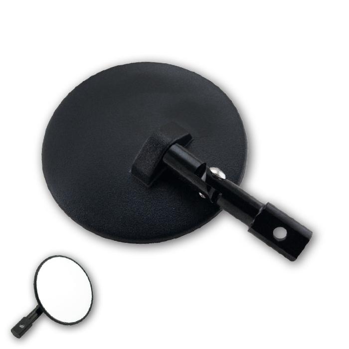 Lenkerendenspiegel | Cento | ABS | M6 | Paar | schw | Arm ver: 65mm | L 140 x Ø 100mm | E-geprüft