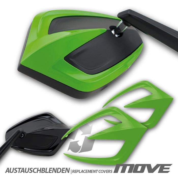 """Austauschblendenset """"MOVE"""", ABS, grün, Paar,"""