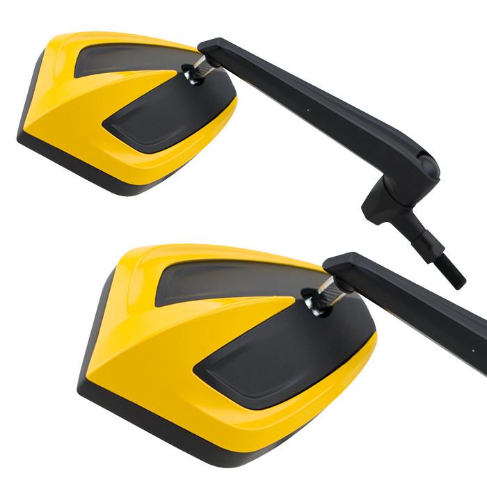 Universalspiegel MOVE | Gelb | M10 | Paar | 2 x M10-R | 1 x M10-L | 2 x HD-Adapter | E-geprüft