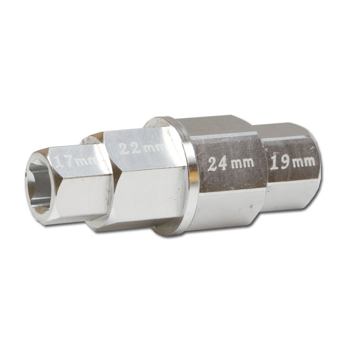 "Innensechskant 4 in 1, 17/19/22/24 mm, Aluminium 3/8"" Anschluß,"