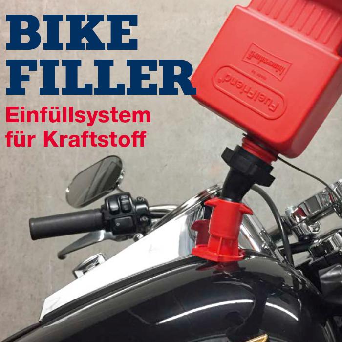 Einfüllsystem für Kraftstoff, schwarz / rot,