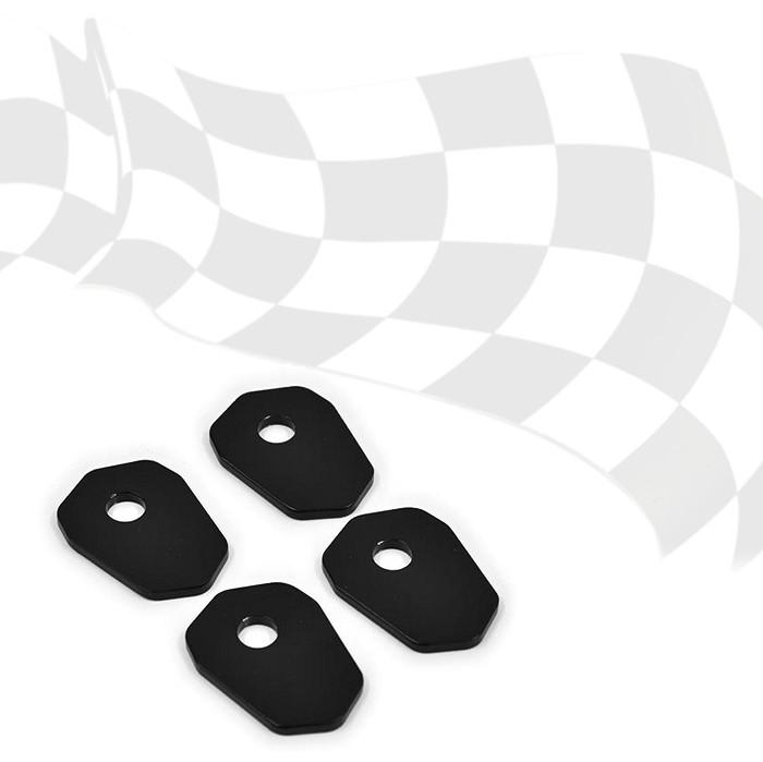 Indy Spacer, schwarz, Stahl, Suzuki GSX-R125 17-18 (VPE 4 Stck.), Maße: L42  x B30 mm