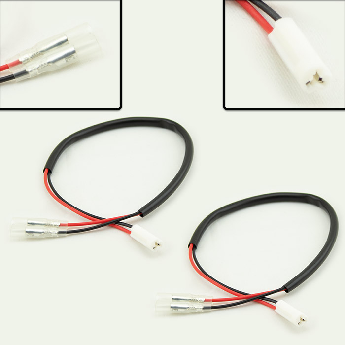 Adapterkabel Blinker | Suzuki / Yamaha | Paar | z.B. MT07/MT09 Import/XSR700/900