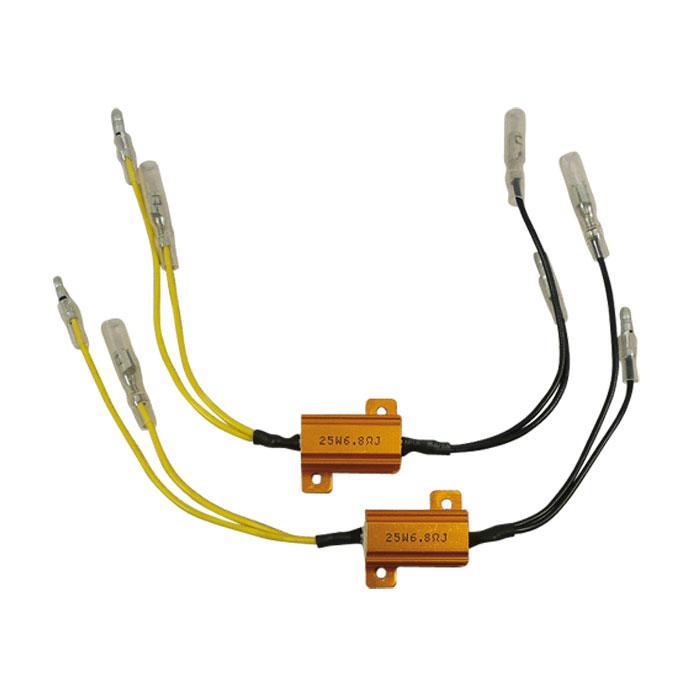 Adapterkabel | Widerstand 6,8 Ohm / 25W | für LED-Blinker, ausgleich bis zu 25W