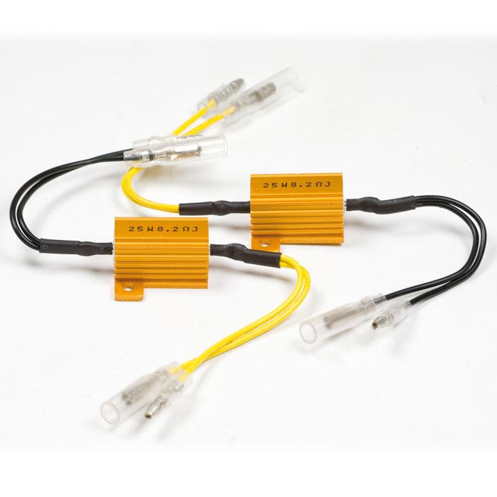 Adapterkabel | Widerstand 8,2 Ohm / 25W | für LED-Blinker, ausgleich bis zu 25W