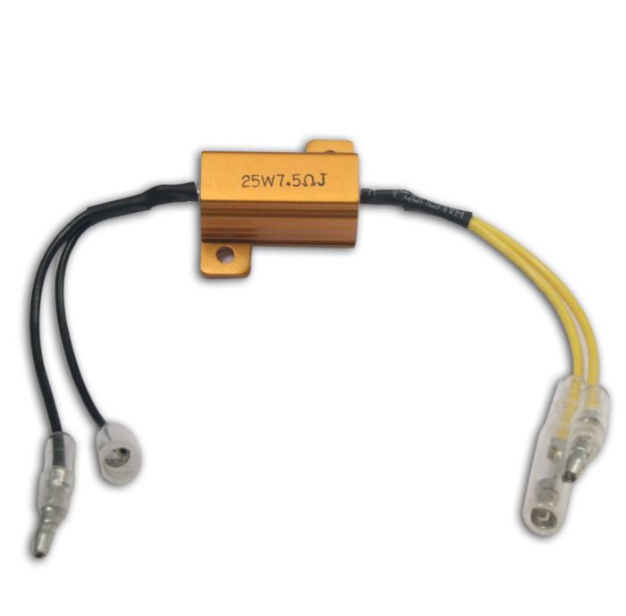 Adapterkabel | Widerstand 7,5 Ohm / 25W | für LED-Blinker, ausgleich bis zu 25W
