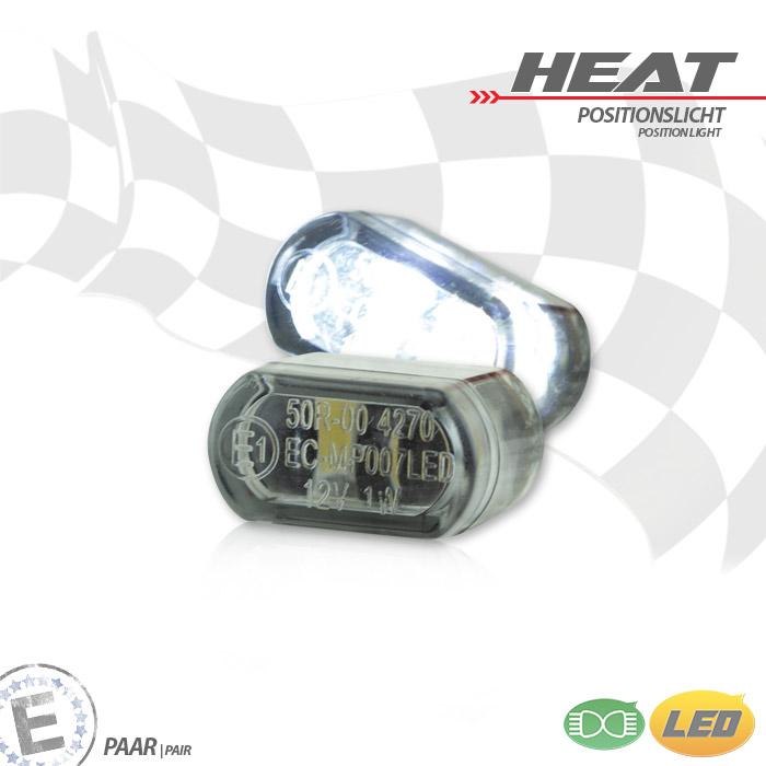 "LED-Einbau-Positionslichtset,""Heat"", getönt, Paar, Maße: B 15,6 x H 8,3 x T 10,3 mm, E-geprüft"