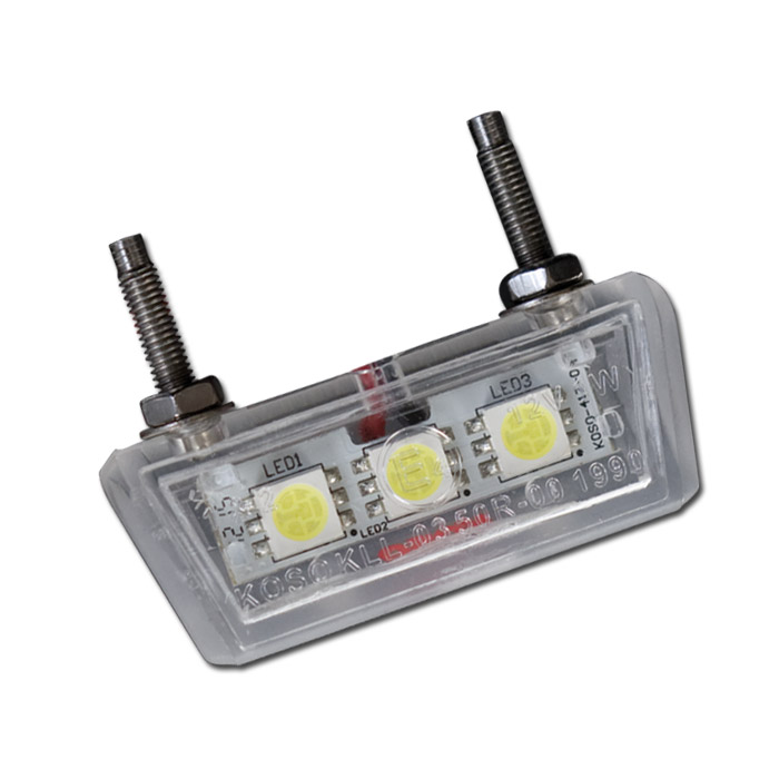 """SMD-Kennzeichenbeleuchtung """"Forty"""", transp., ABS, E-geprüft, 3 SMD s, B: 42 mm H: 10 mm T: 17 mm"""