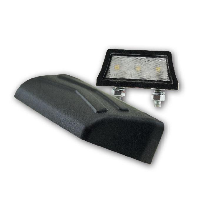 "SMD-Kennzeichenbeleuchtung ""Axis"", schwarz, ABS, 3 SMD s, B 52 x H 13 x T 24 mm, E-geprüft"