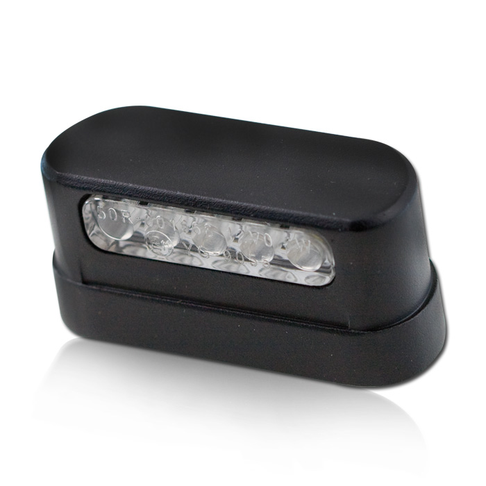 """LED-Kennzeichenbeleuchtung """"Free"""", schwarz, Alu, Kabellänge ca. 400mm, E-geprüft"""