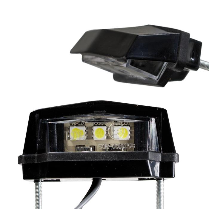 """SMD-Kennzeichenbeleuchtung """"Flat"""", schwarz, ABS, 3 SMD s, B 59 x H 20 x T 29mm, Kabel 40cm, E-gepr"""