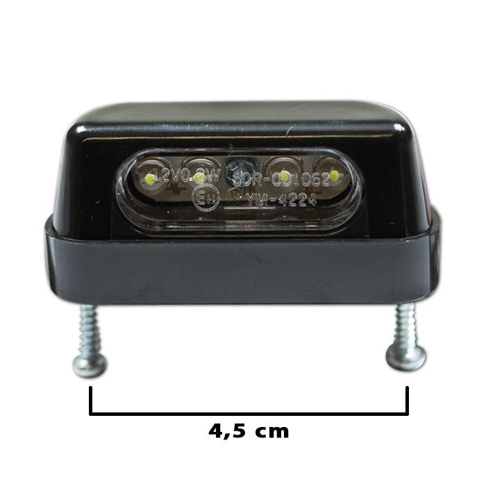 """LED-Kennzeichenbeleuchtung """"Zest"""", schwarz, ABS, Schraubenabstand: 45mm, E-geprüft"""