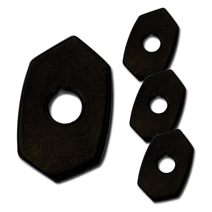 Indy Spacer | schwarz | Stahl | 4 St. | Kawasaki | Z650/Z800/Z900/Z1000/ ER6-N/F | L 48 x  B 30mm