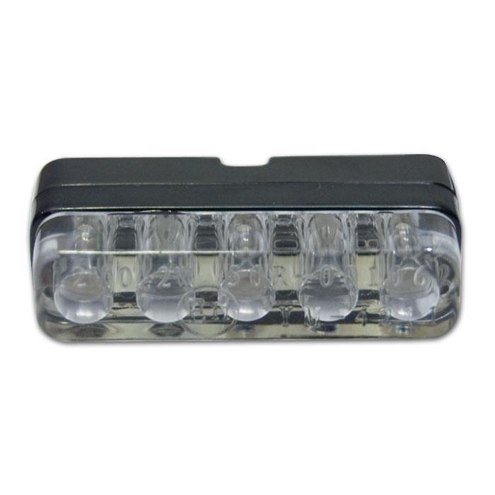 "LED-Kennzeichenbeleuchtung""Ice"", inkl. Befestigung rechteckig, Maße: 38 x 9 x 18 mm, E-geprüft"