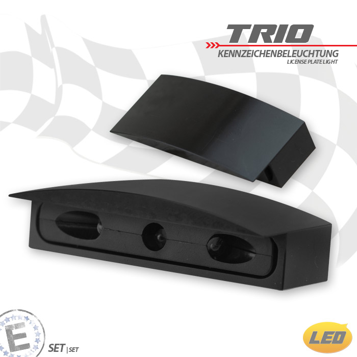 "LED-KZB ""TRIO"" | CNC-Gehäuse | Alu | Schwarz | B48,5 x H13 x T22 mm | Lochabstand: 32 mm | E-gepr"