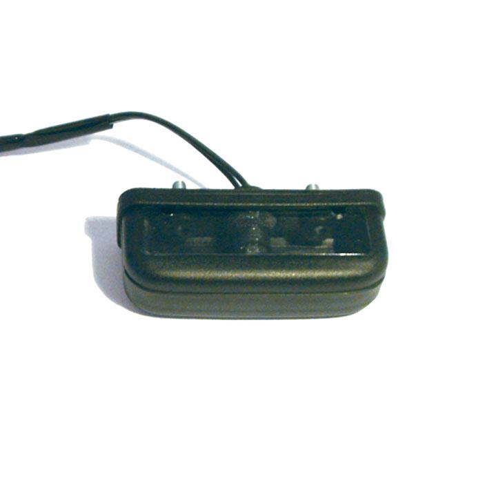 """Kennzeichenbeleuchtung""""Retro"""", schwarz, ABS, rechteckig, Maße: B 85 x H 29 x T 42 mm, E-geprüft"""