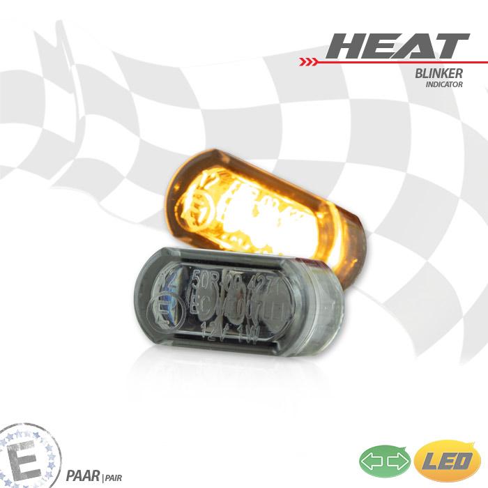 """LED-Einbaublinker-Set,""""Heat"""", getönt, Paar, Maße: B 15,6 x H 8,3 x T 10,3 mm, E-geprüft"""