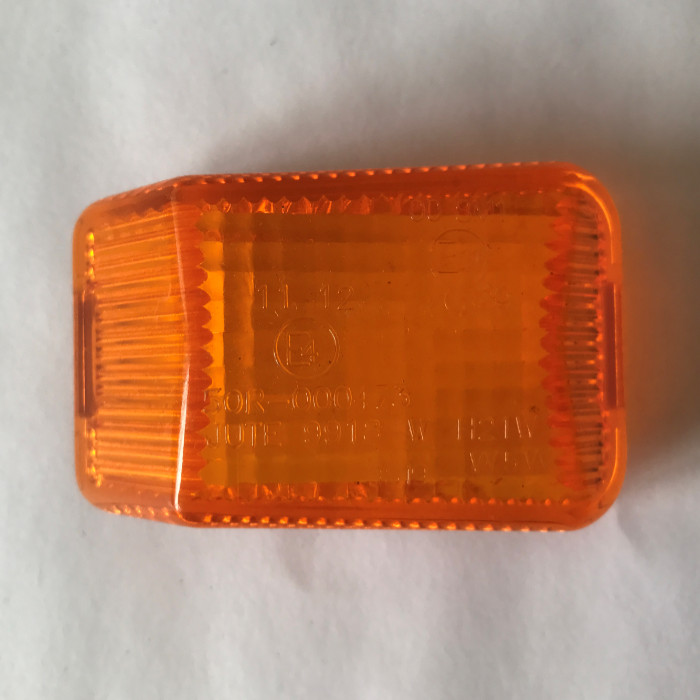 Glas E-geprüft, gelb für Positionsleuchte*