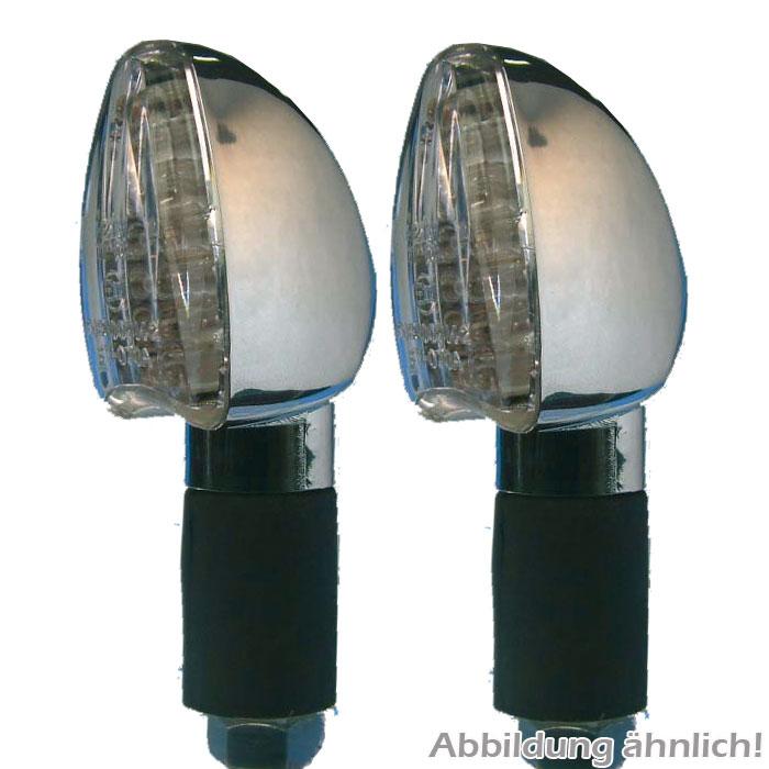 LED-Blinker Arrow, Titan, lang, E-geprüft,* klares Glas, M10, Gummiarm