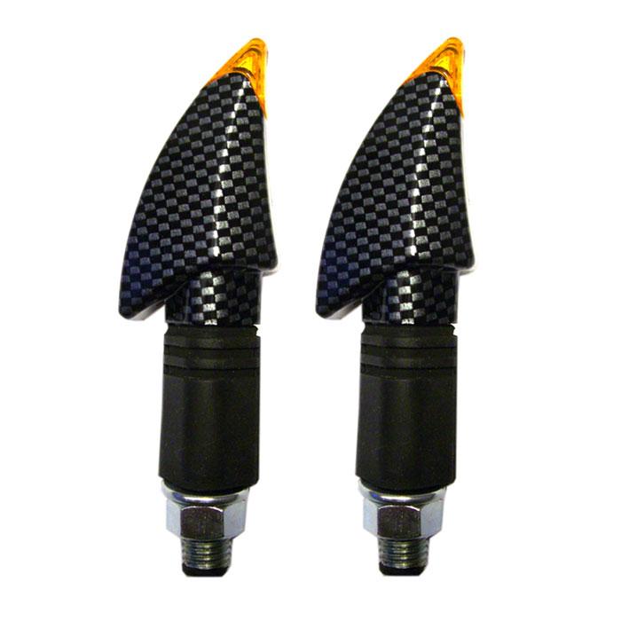 LED-Blinker Bow, carbon, lang, E-geprüft, M10*