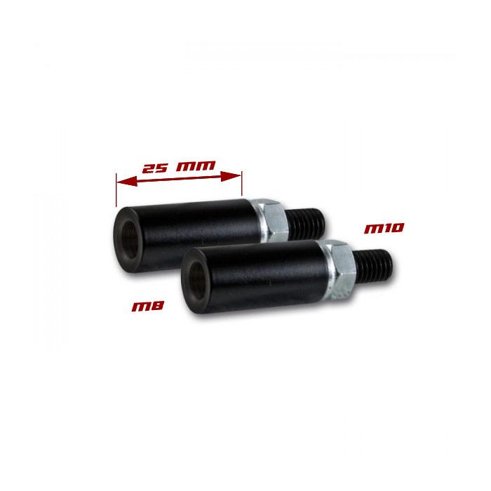 Blinkerverlängerung 25mm, M8 auf M10, (1,25), passt z.B. an: Dual/Rush/Slight/Sliver/Stick
