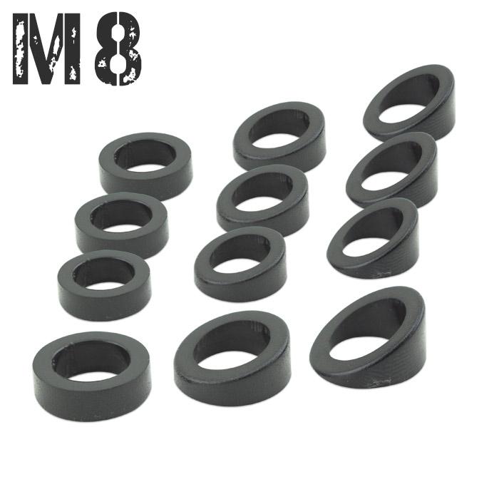 Schrägscheiben-Set | M8 Blinker | 12Tlg. | ABS | Winkel: 0°-40°