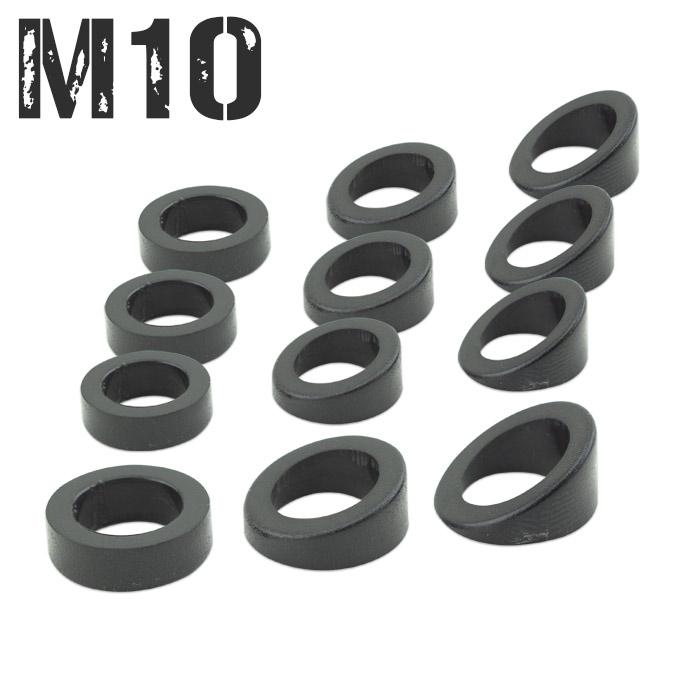 Schrägscheiben-Set | M10 Blinker | 12Tlg. | ABS | Winkel: 0°-40°
