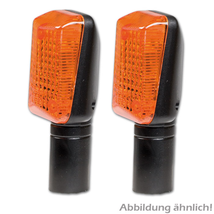 Superbike-Blinker, schwarz, lang, dunkles Glas,* E-geprüft