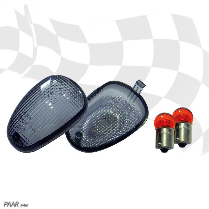 Blinkergläser Ducati Scrambler 800/1100, getönt, Paar, E-geprüft