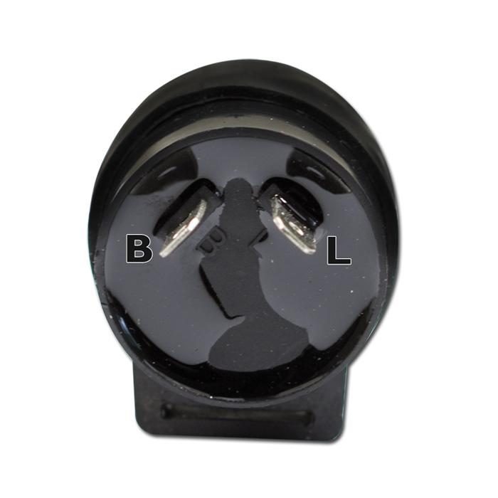 Blinkrelais für LED-Blinker,12V, 2-polig, max 10W, (B=geschaltenes Plus (49) L=Signal (49a)