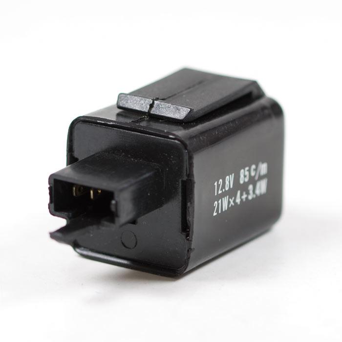 Blinkrelais elektronisch, 12V, 21W x 4 + 3,4W, 3er Stecker weiblich mit 2 Pins