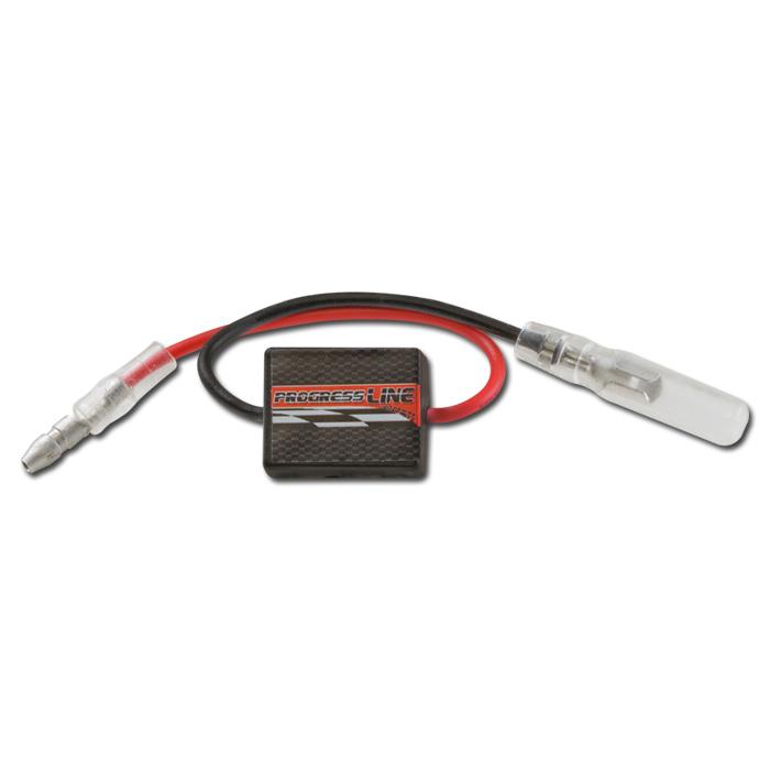 Blinkrelais digital 5-16V/0,1-90W, lastunabhängig, 10 Amp, L 20 x B 15 x H 10 mm, inkl. Rundstecker