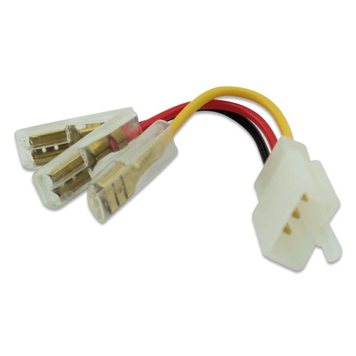 Adapterkabel für 3-Polige Relais zur Umrüstung auf Japanstecker 3PF-3 Pin s / Flachsteckhülse 6,3mm