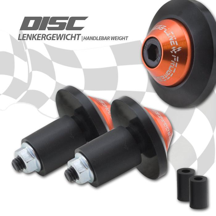 """Lenkergewichte """"Disc"""", Alu, schwa./orange, Ø 35mm, Paar, 7/8""""+1"""" Lenker mit I Ø 14-19 mm"""