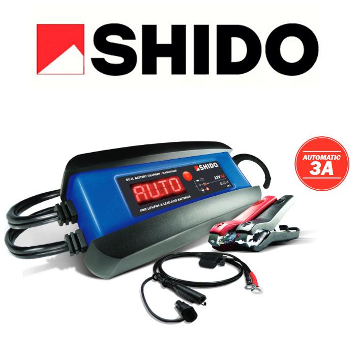 Batterieladegerät SHIDO DC3, Dual-Auto, STD/MF/LI, Ladestrom: 3A / Batteriekapazität 1-110AH