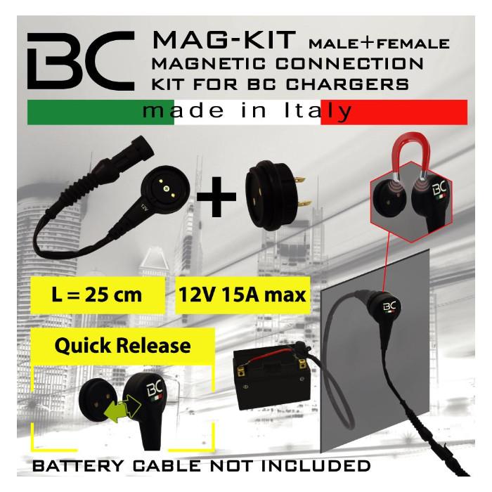 """Batterieladebuchse """"Magnetic"""", wasserdicht, (710-MAG-KIT) 12V max 15 Amp"""