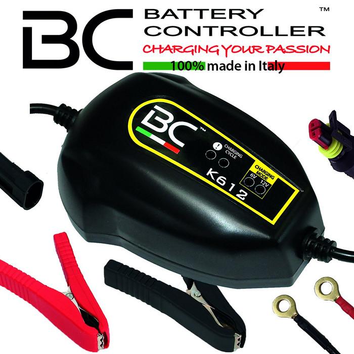 Batterieladegerät BC K612, 6+12 Volt, Ladestrom: 1A / Batteriekapazität 1,2-45AH