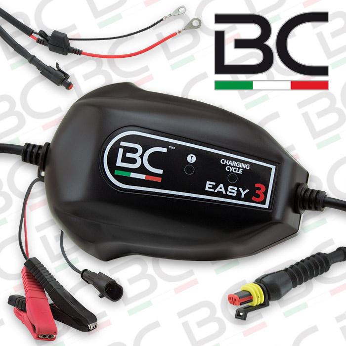 Batterieladegerät | BC | Easy3 | 12V | Ladestrom: 0,9A  | Batteriekapazität 1,2-100AH