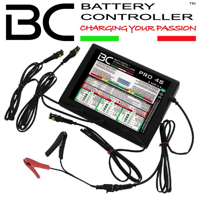 Batterieladegerät BC PRO 4S, 4-Fach, (12 Volt) + Batterie- und Lichtmaschinetestgerät